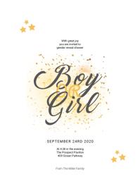 Gender Reveal Baby Shower Flyer Template