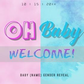 gender reveal Instagram Post template