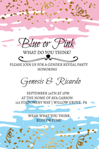 Gender Reveal Poster template