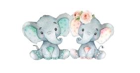 Gender Reveal elephant Facebook Gedeelde Prent template