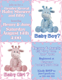 Gender Reveal Giraffe Invitation