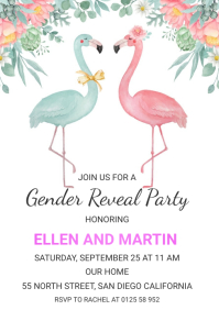 GENDER REVEAL PARTY A5 template
