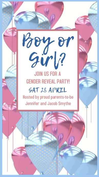 Gender Reveal Party Digital Template