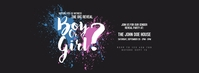 Gender Reveal Party Facebook Cover Photo template