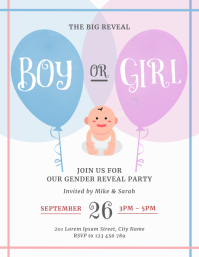 Gender Reveal Party Flyer