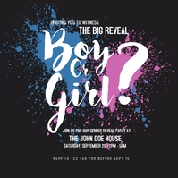 Gender Reveal Party Instagram Post Instagram-bericht template