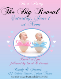 120 Gender Reveal Customizable Design Templates