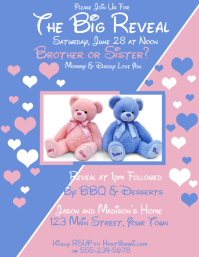 Gender Reveal Party Invitation Brother or Sister