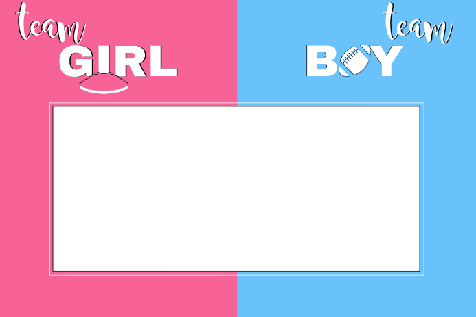 Gender Reveal Template
