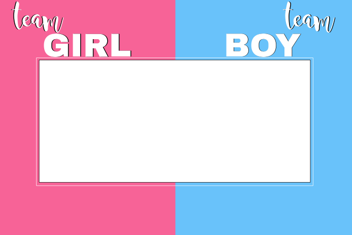 Gender Reveal Party Prop Frame Template