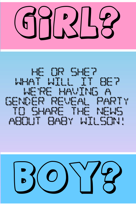 Gender Reveal Party - Baby Shower
