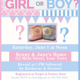 Gender Reveal Pink Blue Western Boots