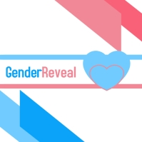 Gender reveal post Albumcover template
