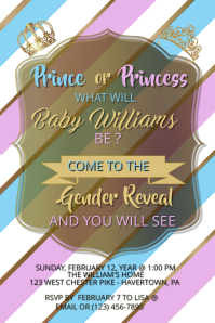 Gender Reveal Template Poster