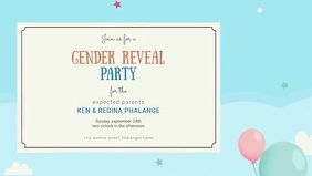 Gender reveal video invitation template