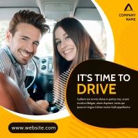generic car driving lessons advertisement ban Publicación de Instagram template