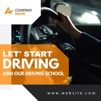 generic driving school classes advertisement Instagram-Beitrag template