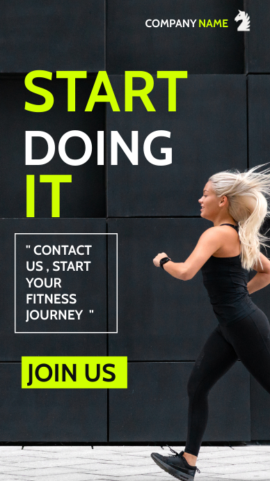 generic fitness personal training advertiseme เรื่องราวบน Instagram template