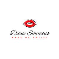 generic make up artist lips icon logo Logótipo template