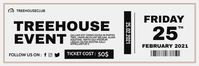 generic modern ticket event party Banner 2 × 6' template