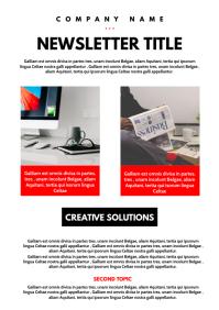 Generic newsletter corporate design template A4