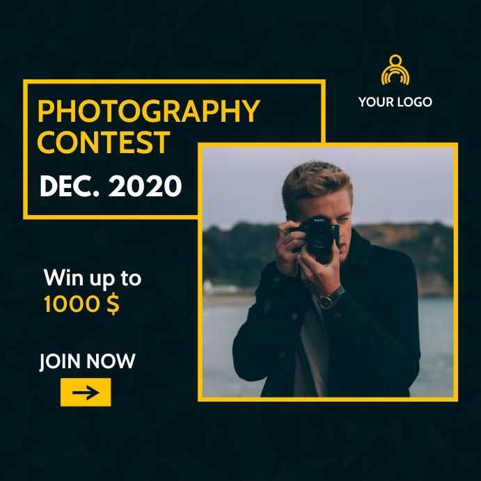generic photography contest instagram post ad template