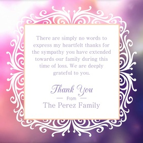 Generic Thank you Note Square Video 方形(1:1) template