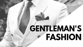 gentleman's fashion youtube thumbnail YouTube-miniature template