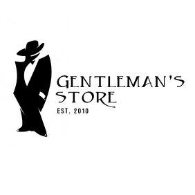 Gentleman's store black and white logo template