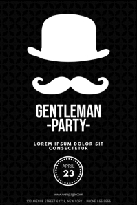 Gentleman Fathers Day party Flyer Template