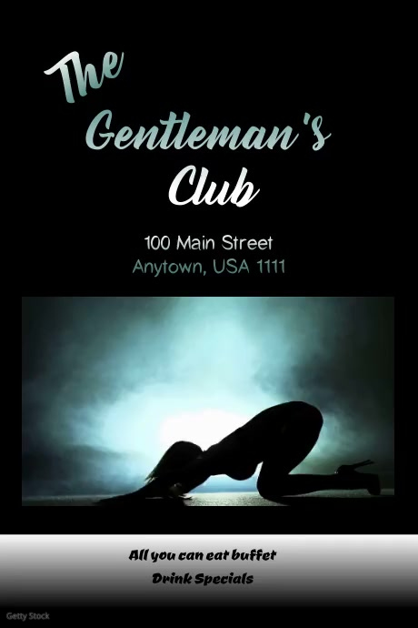 Gentleman's Club Flyer