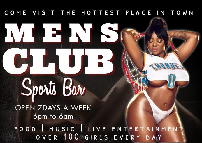 gentlemen's club Kartu Pos template
