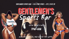 gentlemen's club sports bar Kartu Bisnis template