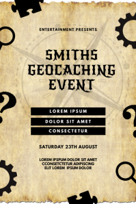 geocaching Event Flyer Template