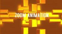Geometric 3D Rotating Bars Background Affichage numérique (16:9) template