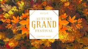 Geometric Autumn Event Display Video Template