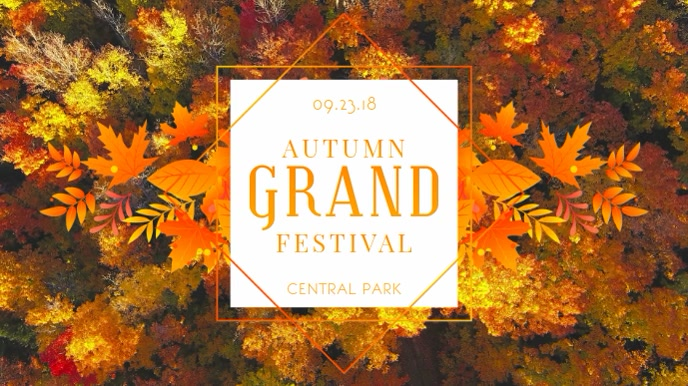 Geometric Autumn Event Display Video Template
