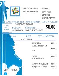 Geometric Blue Invoice