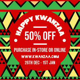 Geometric Kwanzaa Retail Advert Online
