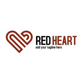 geometric minimal heart logo