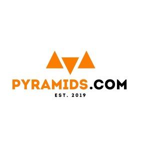 geometric minimal orange and black logo templ