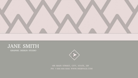 Geometric Pink Business Card