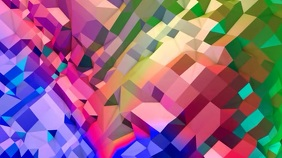 Geometric rainbow zoom background