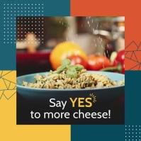 Geometric Restaurant Food Square Video