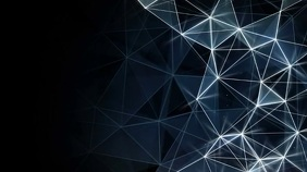 Geometric shape video zoom background Präsentation (16:9) template