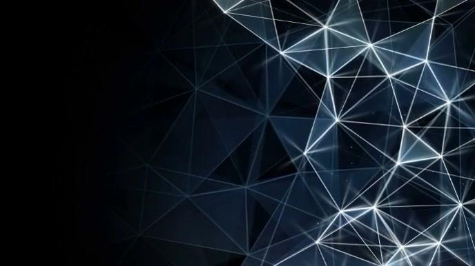 Geometric shape video zoom background งานนำเสนอ Presentation (16:9) template
