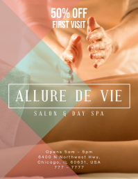 Geometric Spa & Salon Ad Flyer Template