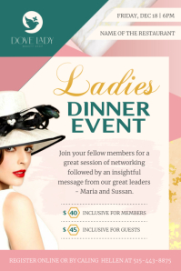Geometric Themed Ladies Event Flyer Poster template