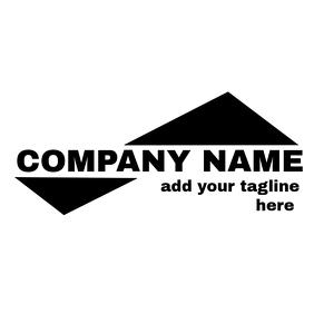 geometrical black and white logo