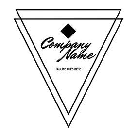 geometrical minimal logo design
